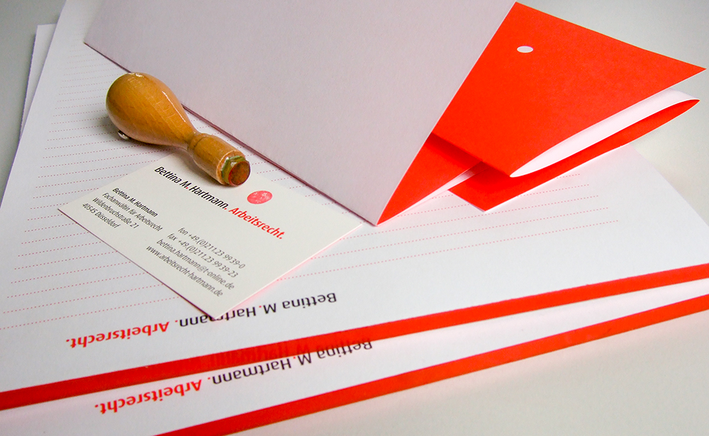 arbeitsrecht stationary branding 4