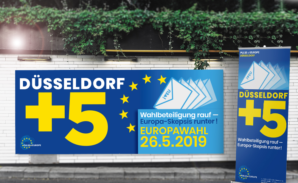 pulse of europe, werbung, banner