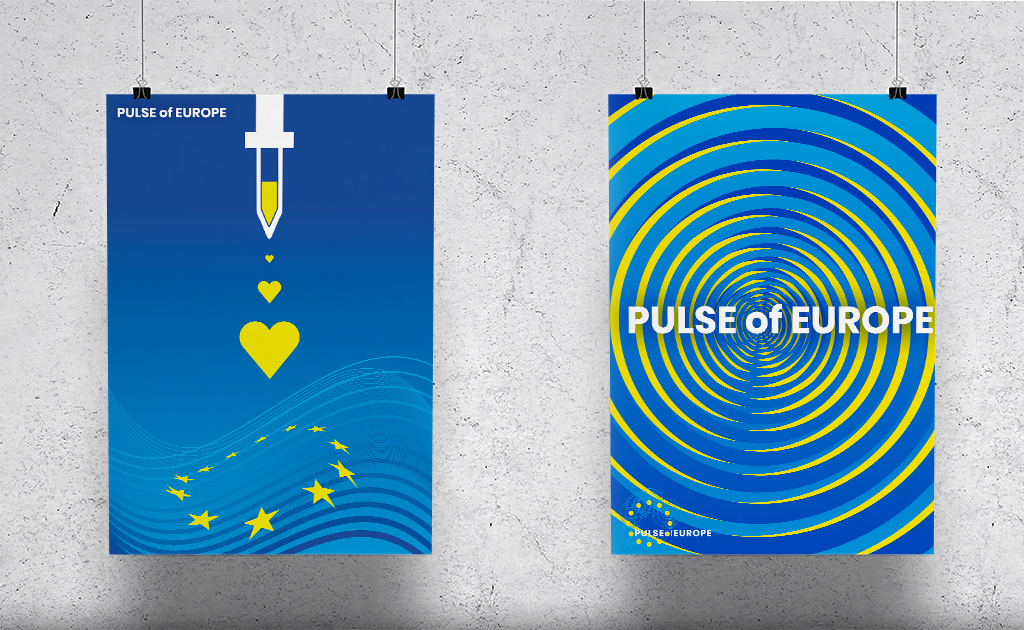 Europa pulse of Europe Plakate Herz