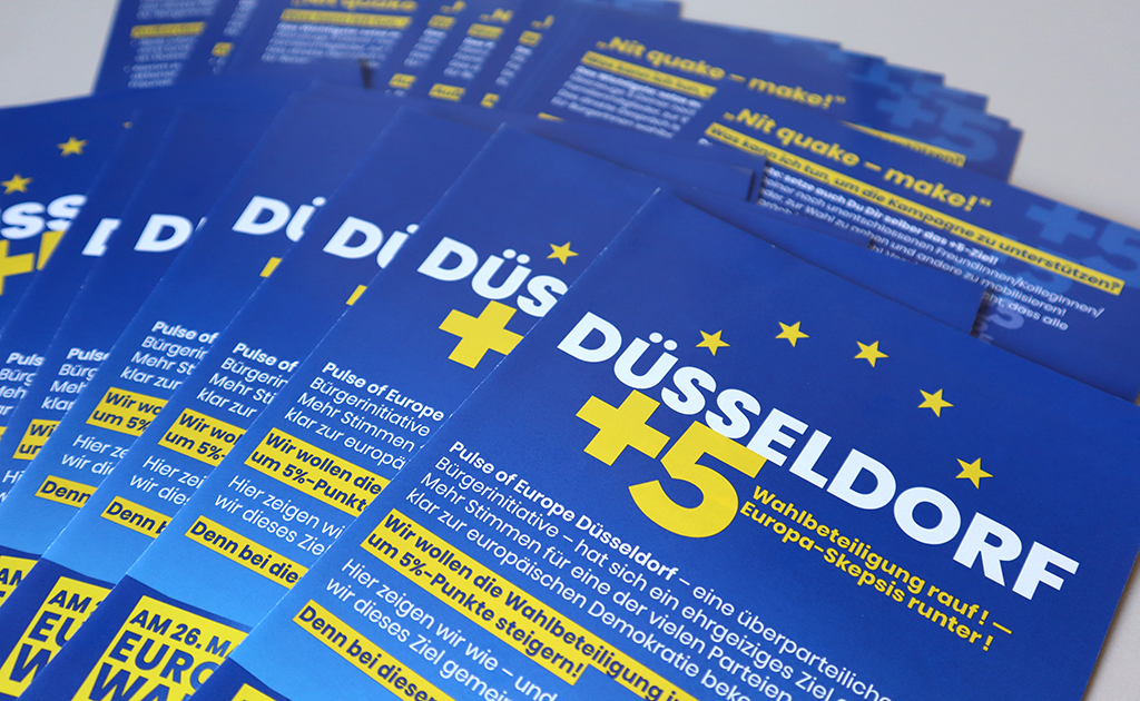 Europa pulse of Europe flyer Düsseldorf