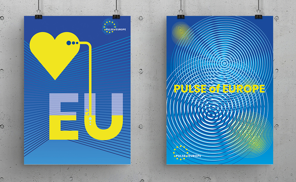 Europa pulse of Europe Plakate circles