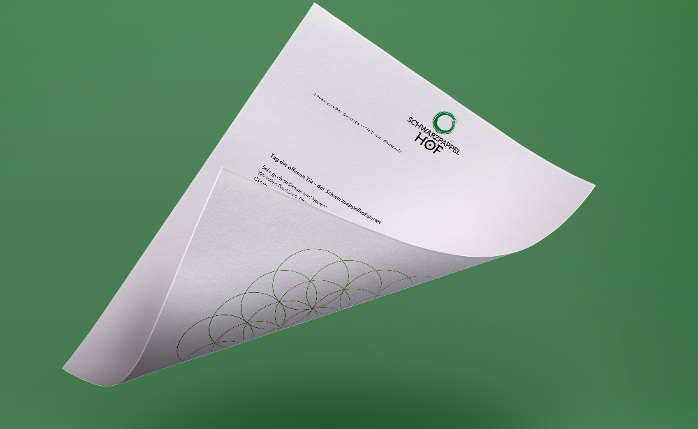 schwarzpappelhof stationary Briefbogen