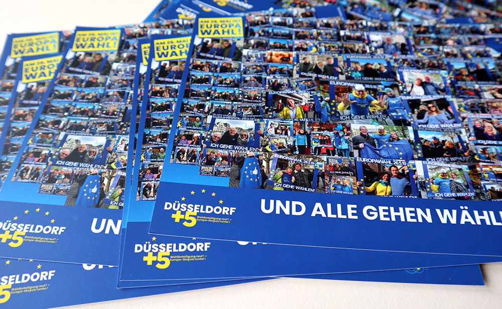 pulse of europe, werbung, postcards