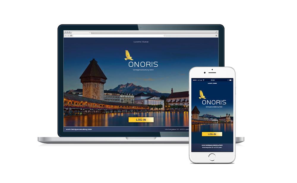 onoris identity website mobil