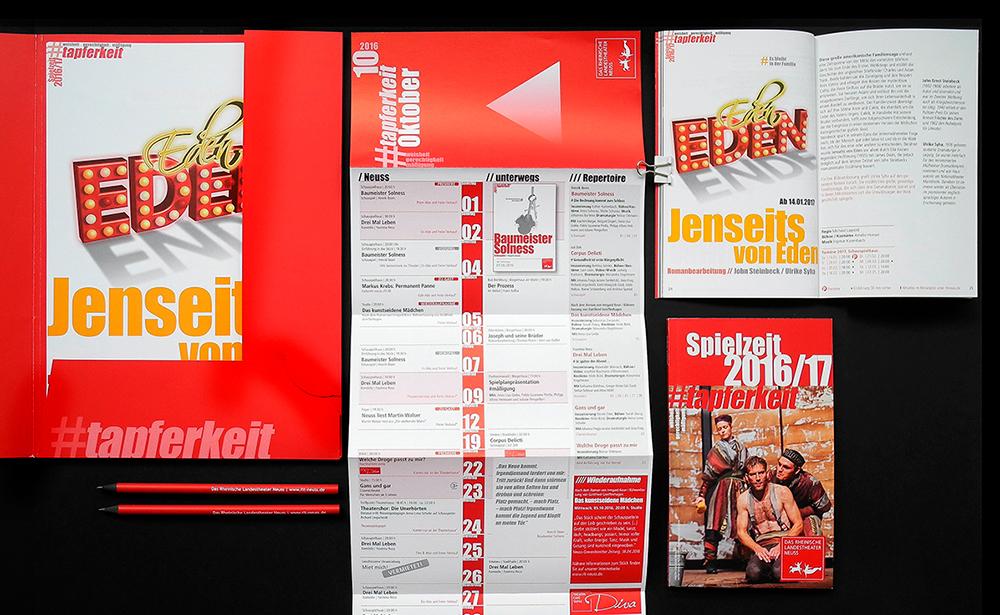 Branding RLT Theater Neuss Drucksachen Spielplan Spielzeitheft