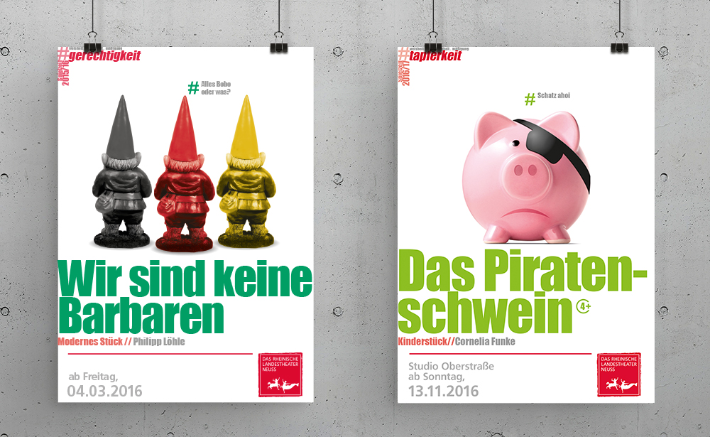 Theaterplakat Barbaren Kinderstueck Piratenschwein